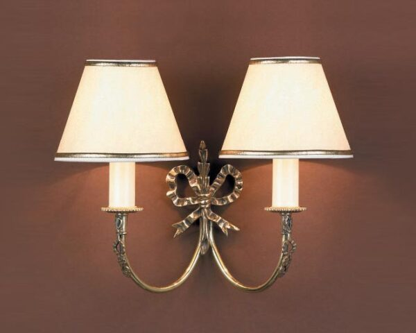 Impex Richmond Solid Brass Ribbon Design Traditional Twin Wall Light