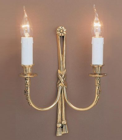 Impex Richmond Solid Brass Rope Design Traditional Twin Wall Light