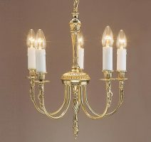 Impex Richmond Solid Brass Traditional Compact 5 Light Chandelier