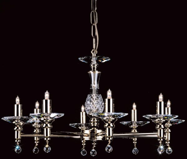 Impex San Marino Optical Glass 8 Light Traditional Chandelier