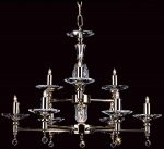 Impex San Marino Optical Glass 15 Light Traditional Large Chandelier