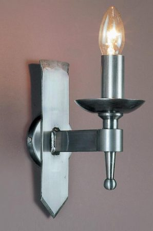 Impex Saxon Sterling Finish Iron Work Single Gothic Wall Light