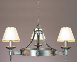 Impex Saxon 3 Light Sterling Iron Work Gothic Cartwheel Chandelier