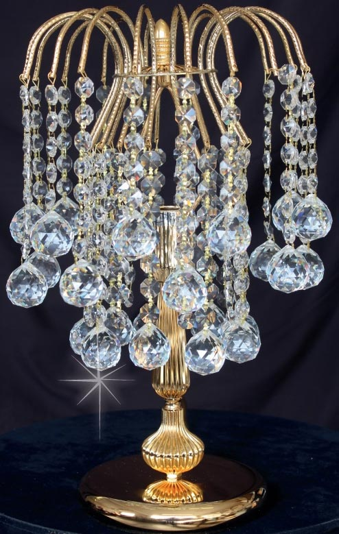 Impex Shower Strass Crystal Table, Chandelier Table Lamps Uk