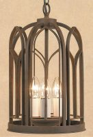 Impex Smithbrook Villa 3 Light Aged Iron Hanging lantern