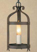 Impex Smithbrook Villa 1 Light Aged Iron Gothic Hanging Lantern