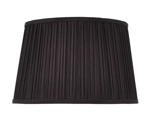 Kemp pleated black faux silk 12-inch small table lamp shade main image