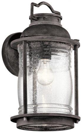 Kichler Ashland Bay 1 Light Large Outdoor Wall Lantern Weathered Zinc