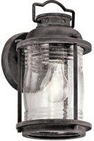 Kichler Ashland Bay 1 Light Small Outdoor Wall Lantern Weathered Zinc