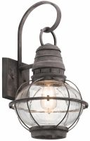 Kichler Bridge Point 1 Light Large Outdoor Wall Lantern Weathered Zinc