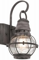 Kichler Bridge Point 1 Light Small Outdoor Wall Lantern Weathered Zinc