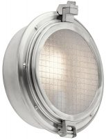 Kichler Clearpoint Outdoor Wall Light Brushed Aluminium IP44