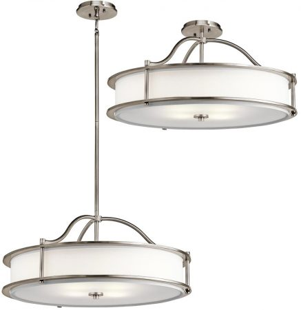 Kichler Emory Medium 4 Light Ceiling Pendant / Semi Flush Mount Pewter