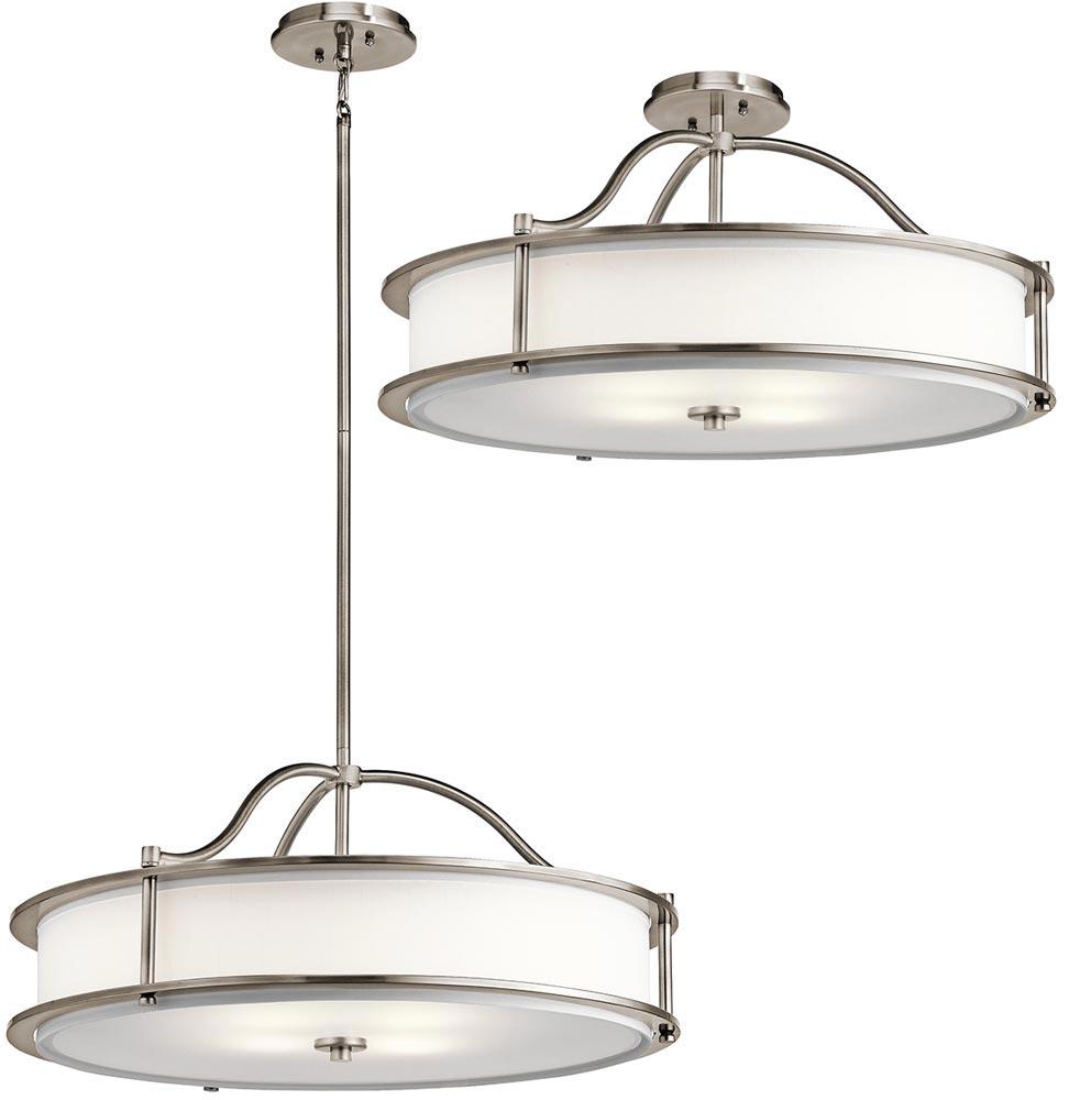 L D Kichler Co: Kichler Emory Medium 4 Light Ceiling Pendant / Semi Flush