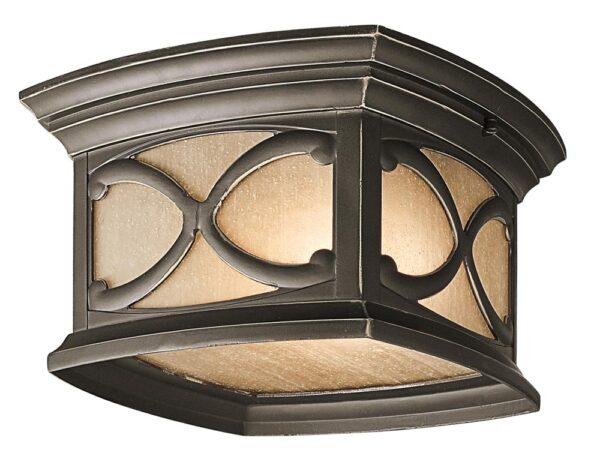 Kichler Franceasi 2 Lamp Flush Outdoor Porch Light Olde Bronze