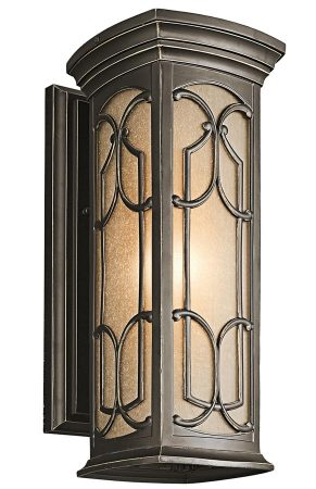 Kichler Franceasi Medium Outdoor Wall Lantern Olde Bronze