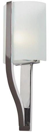 Kichler Freeport Polished Chrome Bathroom Wall Light Etched Glass IP44