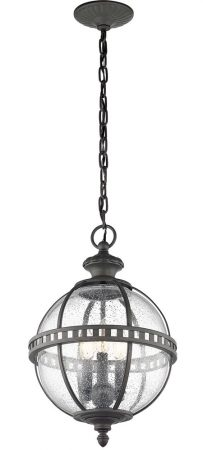 Kichler Halleron 3 Light Outdoor Chain Lantern Globe Londonderry IP44
