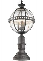 Kichler Halleron 3 Light Medium Outdoor Pedestal Lantern Londonderry