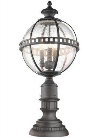 Kichler Halleron 3 Light Medium Outdoor Pedestal Lantern Londonderry