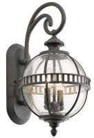 Kichler Halleron 2 Light Small Outdoor Wall Lantern Londonderry IP44