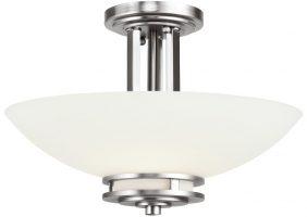 Kichler Hendrik Polished Chrome 3 Light Semi Flush Bathroom Opal Glass IP44