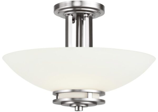 Kichler Hendrik Polished Chrome 3 Light Semi Flush Bathroom Opal Glass IP44