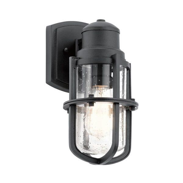 Kichler Suri Nautical 1 Light Small Outdoor Wall Lantern Textured Black