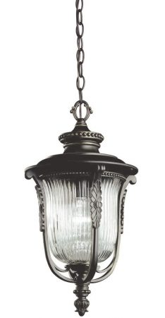 Kichler Luverne 1 Light Outdoor Porch Chain Lantern Oil Rubbed Bronze