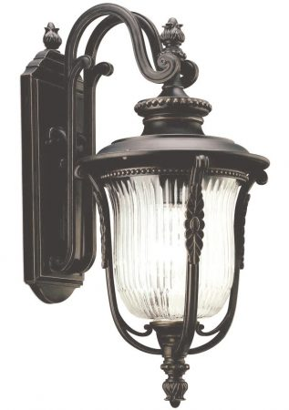 Kichler Luverne 1 Light Medium Outdoor Wall Lantern Oil Rubbed Bronze