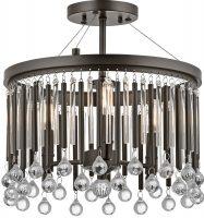 Kichler Piper 3 Light Semi Flush Mount Ceiling Light Espresso Glass Rods