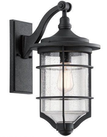 Kichler Royal Marine 1 Light Medium Outdoor Wall Lantern Black