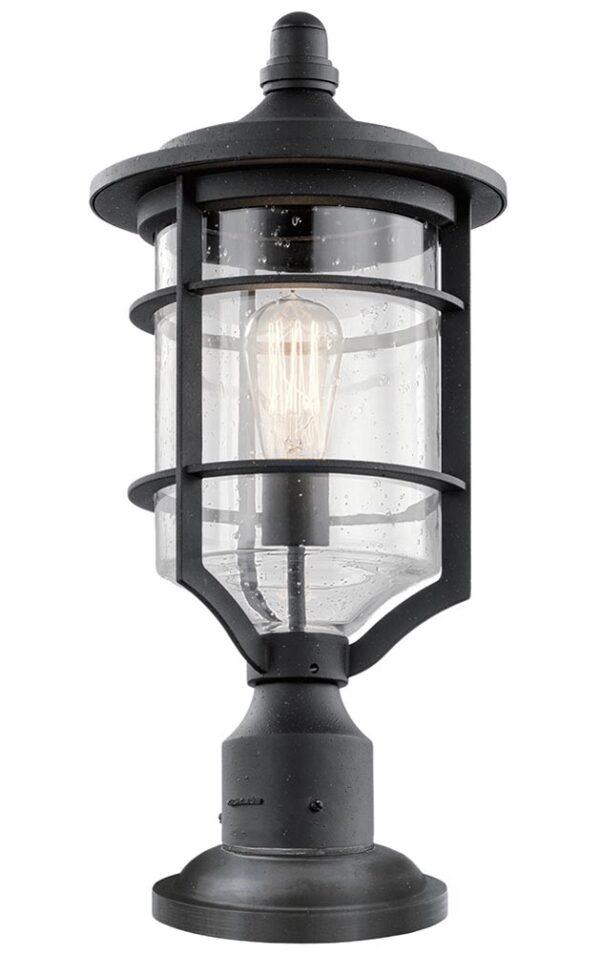 Kichler Royal Marine 1 Light Medium Outdoor Pedestal Lantern Black