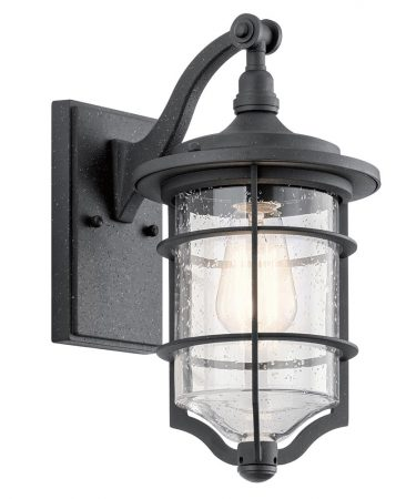 Kichler Royal Marine 1 Light Small Outdoor Wall Lantern Black