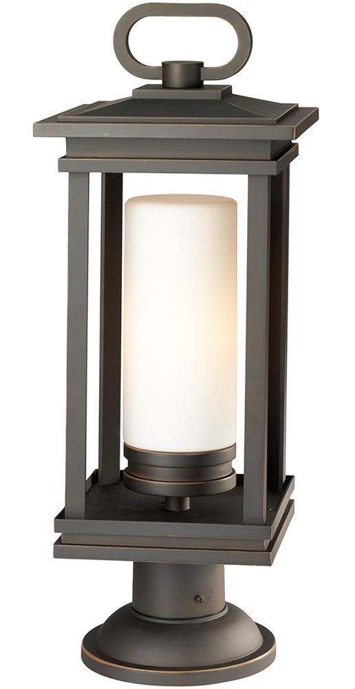 Kichler South Hope 1 Light Large Outdoor Post Lantern Rubbed Bronze