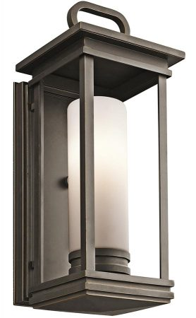 Kichler South Hope 1 Light Medium Outdoor Wall Lantern Rubbed Bronze