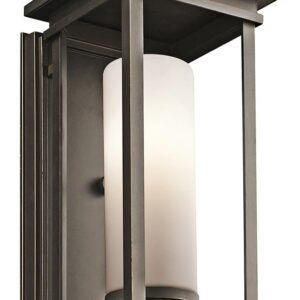 Kichler South Hope 1 Light Medium Outdoor Wall Lantern Rubbed Bronze