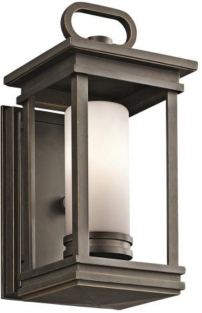 Kichler South Hope 1 Light Small Outdoor Wall Lantern Rubbed Bronze