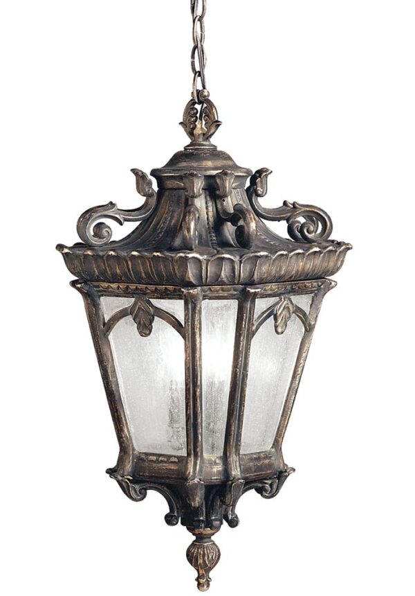 Kichler Tournai 3 Light Large Hanging Outdoor Porch Lantern Londonderry
