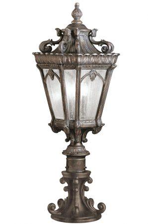Kichler Tournai 3 Light Large Outdoor Pedestal Lantern Londonderry