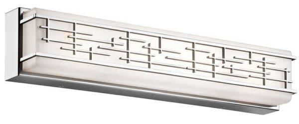Kichler Zolon Large 28w LED Bathroom Wall Mirror Light Chrome IP44
