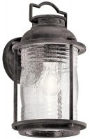 Kichler Ashland Bay 1 Light Medium Outdoor Wall Lantern Weathered Zinc