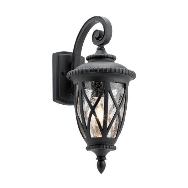 Kichler Admirals Cove Medium Outdoor Wall Lantern Textured Black