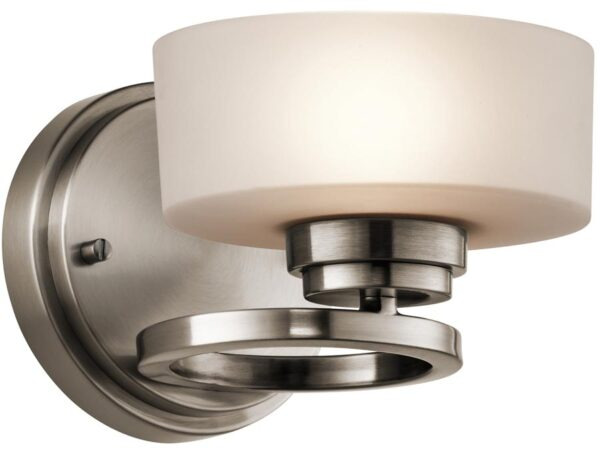 Kichler Aleeka 1 Light Contemporary Wall Lamp Classic Pewter