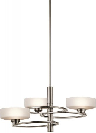 Kichler Aleeka 3 Light Contemporary Chandelier Classic Pewter
