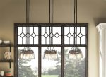 Kichler Brinley 6 Light Pendant Cluster Olde Bronze Clear Glass Shades