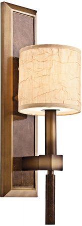 Kichler Celestial 1 Lamp Crinkle Shade Wall Light Cambridge Bronze