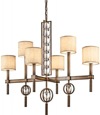 Kichler Celestial 6 Light Rectangular Chandelier Cambridge Bronze