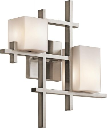 Kichler City Lights 2 Lamp Contemporary Wall Light Classic Pewter