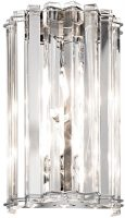 Kichler Crystal Skye 2 Lamp Designer Wall Light Polished Chrome